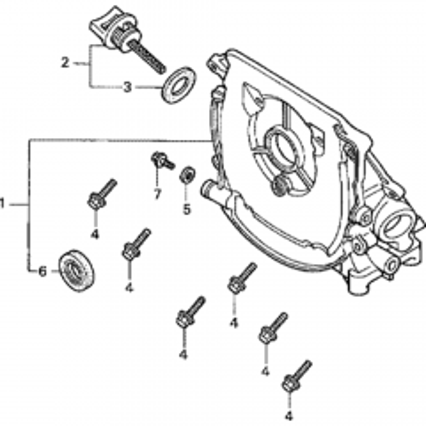 28410-ZM7-V31 Recoil Cover Only Fits Honda GXH50 Engine