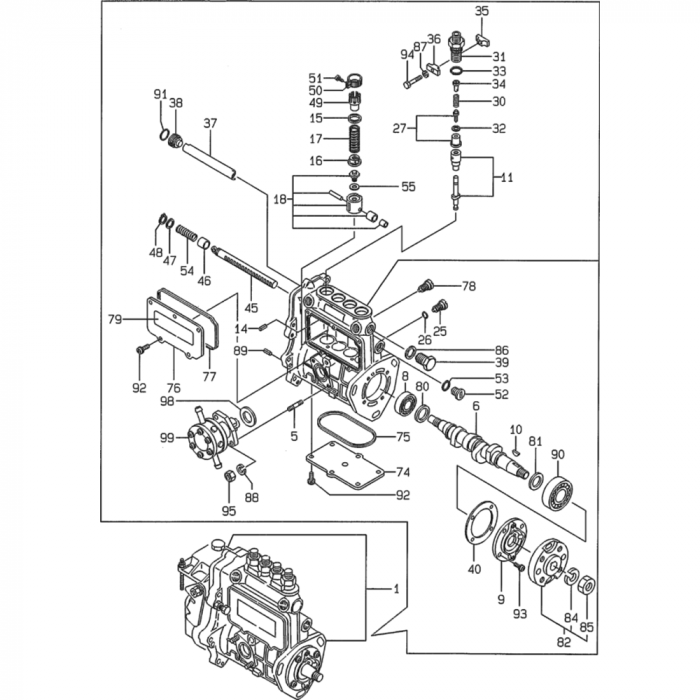 Fuel Injection Pump Assembly For Yanmar 4tne84 Engine