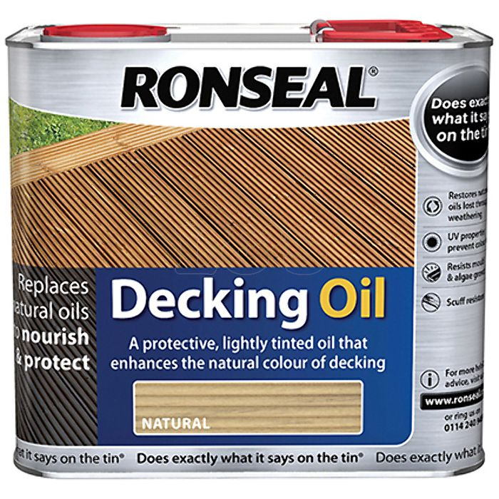 Decking Oil Clear 2.5 Litre by Ronseal - 34770